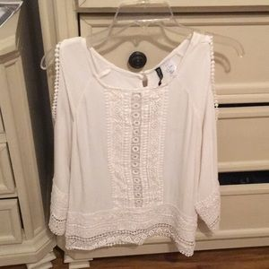 H&M lace open-shouldered blouse 42/M